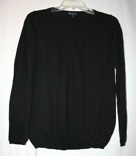 Gap Womens Size M Long Sleeve Cashmere Cotton Blend Black Sweater