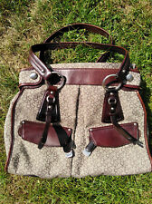 Genuine leather & canvas women authencity DKNY bag