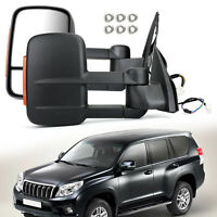 Pair Extendable Towing Mirrors For Toyota Prado 150 Series 2009-ON New