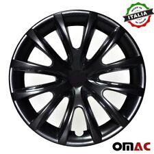 "15"" Inch Hubcaps Wheel Rim Cover For Nissan Glossy  Black Insert 4pcs Set"