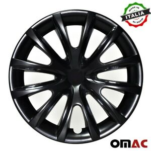 "15"" Inch Hubcaps Wheel Rim Cover For Nissan Glossy  Black Insert 4pcs Set"