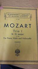 Mozart: Trio I IN SOL MAGGIORE per pianoforte, violino e violoncello: musica Score