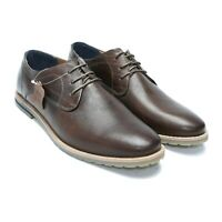 Men's Perforated Leather Shoes, LaceUp Burnished Mens Dress Shoes (AU/UK Size)