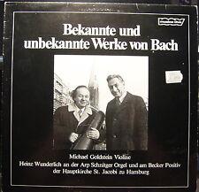 Michael Goldstein (violin) Bekannte und unbekannte Werke von Bach (GERMANY) 1979