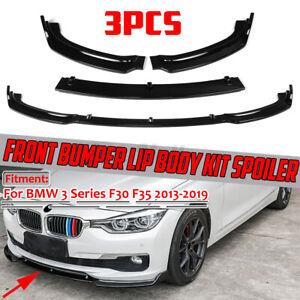 Davanti Paraurti Labbro Spoiler Splitter Per BMW F30 F35 3 Series 2013-2019