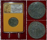 Roman Empire Coin Of GRATIAN Emperor Offering Hand To Female Helping To Rise