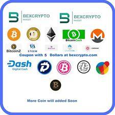 Mining Contract Coupon 5 Dollar at Bexcrypto BTC LTC ETH BTX BTCZ DOGE DGB