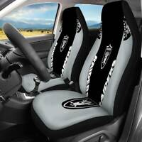 USA Las Vegas Raiders 2PCS Car Seat Covers Universal Auto Truck Seat Protector