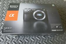 Sony Alpha NEX-7 24.3MP (body only) digital camera w/ four batteries and SD card