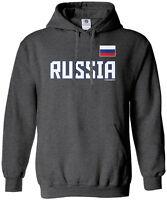 Threadrock Men's Russia National Team Hoodie Sweatshirt Russian Pride
