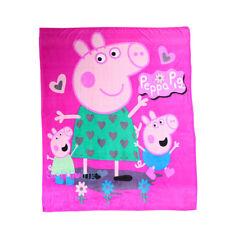 Peppa Pig Soft Warm Plush Flannel Bedding Sleep Blanket Flat Queen 150X200