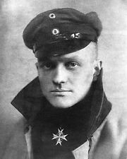 RED BARON MANFRED VON RICHTHOFEN PORTRAIT 8x10 SILVER HALIDE PHOTO PRINT