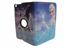 IPAD 2 / 3 / 4 CASE COVER  FROZEN ELSA DISNEY PRINCESS CARTOON 360 DEGREE ROTATE
