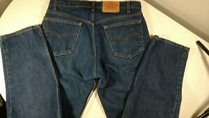 Levis 505-0217 Jeans 36x30 (Actual 35Wx30L) Dark Blue Wash Red Tab 505-0217