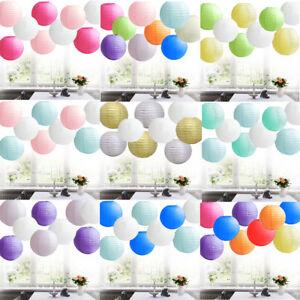 5Pc Round Paper Lanterns Wedding Party Lamp Shade Large 45cm 50cm 55cm 60cm 75cm