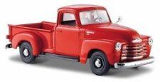 Modellini statici di auto, furgoni e camion pickup rosso