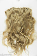 Spring Honey Long Medium Human Hair Wavy Straight Clip-in-Extensions Accessories