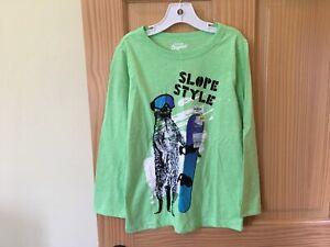 New Oshkosh Snowboarding Boys Shirt Top Fluorescent Green