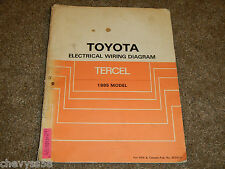 1985 85 TOYOTA TERCEL ELECTRICAL WIRING DIAGRAM MANUAL