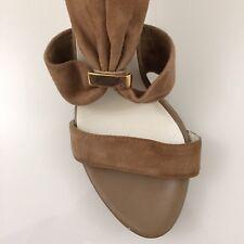 Mesdames sandale chaussures 4 NUDE TAN Kaléidoscope Talon Haut Fermeture Éclair Arrière réel de 100% en daim