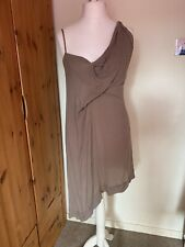 Religion Green Asymetrical Strappy One Shoulder Dress Size 14