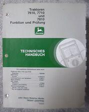 John deere de planta mano libro 7610 7710 7810 función y auditoría