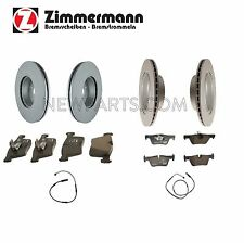 BMW F30 F32 Front and Rear Vented Disc Brake Rotors with Pads and Sensors OEM