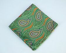 Lord R Colton Masterworks Pocket Square - Santiago Irish Green Silk $75 New