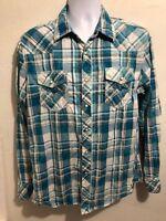 "BKE  ""Vintage 67"" Men's Shirt Long Sleeve  Standard Fit Snap Front Sz L"