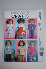 "McCall's Crafts Sewing Pattern #5775 Doll Clothes 18"" Dolls"