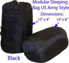 Modular Sleeping Bag US Army Military Style BLACK Blanket Sleep System Camping