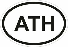 ATH ATHENS CITY COUNTRY CODE OVAL STICKER bumper decal