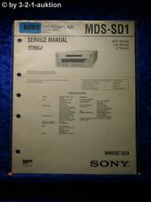 Sony Service Manual MDS SD1 Mini Disc Deck  (#6065)