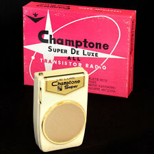 Champtone Super DeLuxe 2 transistor Boy's radio nearly NEW IN BOX Japan