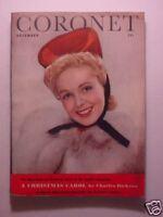CORONET December 1942 Dec 42 ARTHUR MURRAY RYERSON JOHNSON CHRISTMAS CAROL +++