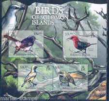 SOLOMON ISLANDS 2012  BIRDS SHEET  MINT NH