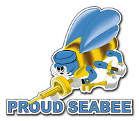 "Proud Seabee 5.5"" Window Sticker / Decal 'Free Shipping' 'Officially Licensed'"
