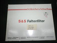 100 Stück FALTENFILTER Schleicher & Schüll Ø 500 mm Filter Nr 1573 1/2 eig