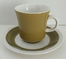 Mikasa Cera Stone Green White Mid Century Modern Retro Cup & Saucer D1450 Japan