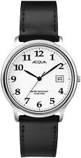 Timex Acqua AA3C77500, Men's Easy Reader Black Strap Watch, White Dial, Date