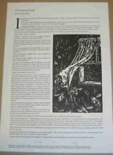 Laurie R King A Venomous Death Signed Limited Ed Letterpress Broadside 2009