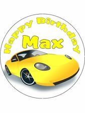 Sports Car Personalised Stickers Thank You Party Bags 36 24 x 45mm 67