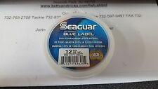 1 Seaguar Blue Label 100% Fluorocarbon Leader Material 12 lbs. Test 25 Yards
