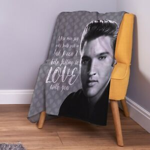 Elvis Can't Help Falling in Love Soft Fleece Throw Blanket