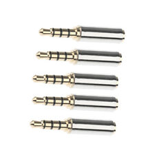 5x 4-Pole 3.5mm Male to 2.5mm Female Headset Audio Adapter Stereo Jack