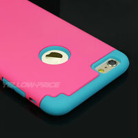 iPhone 6 6S Case, Shockproof Hybrid Cover + Tempered Glass Film for Girls Women