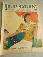 MON OUVRAGE  1938  n°372 dentelle Milanaise et lacet cartonnier bouchon