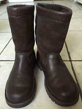 UGG Riverton 3296 Brown Suede Leather Sheepskin Kids Youth Boots US 13