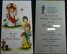 ESTAMPA PRIMERA COMUNION PARROQUIA SANTA ANA JEREZ 1969 HOLY CARD SANTINI CC1250