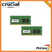 NEW Crucial 16GB DDR4 2400Mhz Memory SODIMM 2x 8GB 1.2V RAM for Laptop PC4 19200